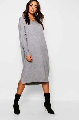 boohoo Round Neck Knitted Dress