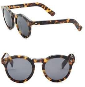 Illesteva 50MM Leonard II Tortoise Round Sunglasses