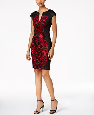 Connected Lace-Panel Sheath Dress $69 thestylecure.com