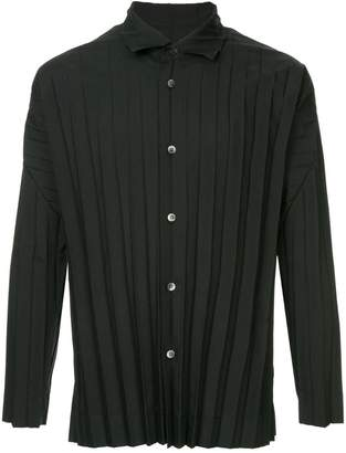 Issey Miyake Homme Plissé pleated button down shirt