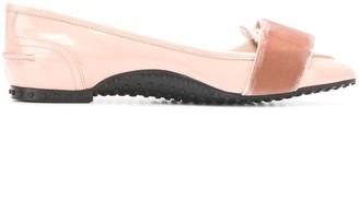 Tod's x Alessandro Dell'Acqua velvet bow loafers