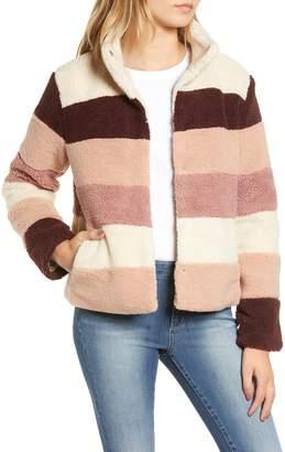 BP Stripe Faux Shearling Jacket