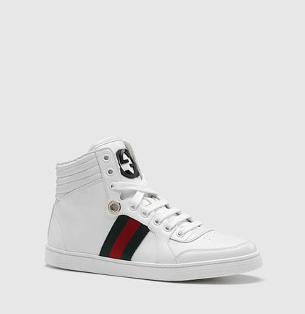 Gucci coda hi-top sneaker with interlocking G and signature web