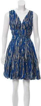 Rachel Zoe Printed Silk Dress