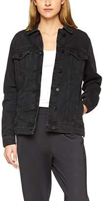 Noisy May Women's Nmole L/s Black Denim Jacket Noos (Size: Medium)