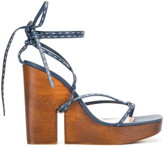 Jacquemus high wedge sandals