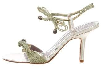 sale really Anya Hindmarch Satin Knot Sandals huge surprise cheap online cheap sale fashion Style discounts online best place cheap price RktxIQ