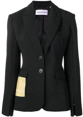 Carven contrast pocket blazer
