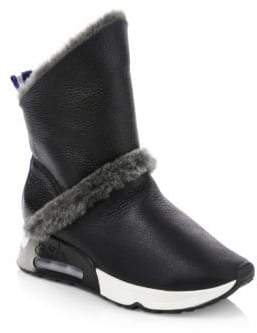 Ash Laika Leather & Shearling Boots