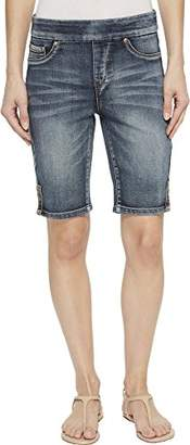 Tribal Women's Pull On Short with Side Leg Detail Denim