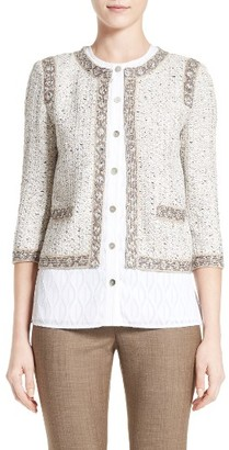 Women's St. John Collection Kira Tweed Jacket $1,295 thestylecure.com