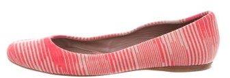 Missoni Round-Toe Striped Flats