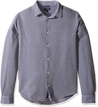Armani Jeans Men's Textured Long Sleeve Button Down Shirt