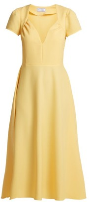 Gioia Bini Tina Crepe Dress - Womens - Yellow