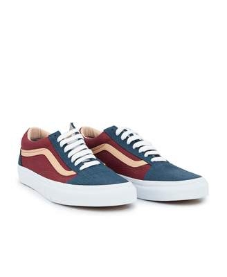 87c802e9c7a2 Vans Old Skool Textured Suede Trainers Colour  BLUE