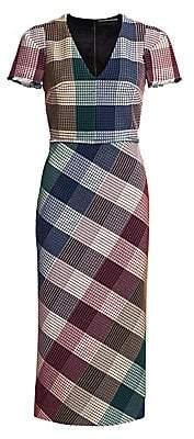Roland Mouret Women's Chaney Check Sheath Dress