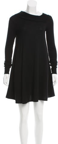 Balenciaga  Balenciaga Wool-Blend Cutout Dress