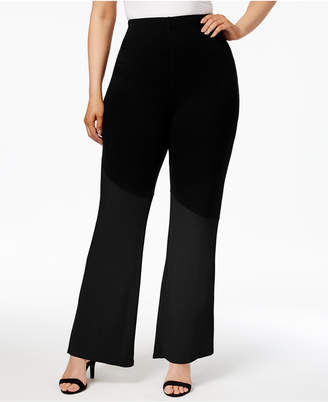 Justice Poetic Trendy Plus Size French Terry Colorblocked Soft Pants