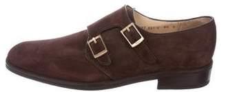 Salvatore Ferragamo Suede Double Monk Strap Shoes