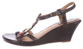 Frye Leather Wedge Sandals
