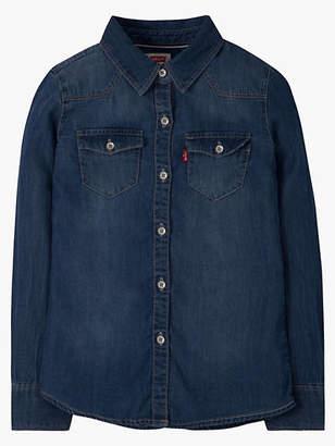 Levi's Little Girls 4-6x Western Shirt Chambray 6X