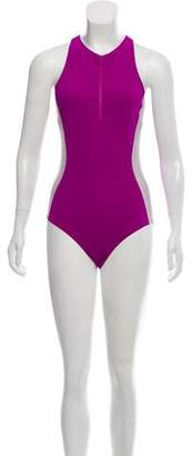 FlagPole Swim Stella Zip-Up Swimsuit