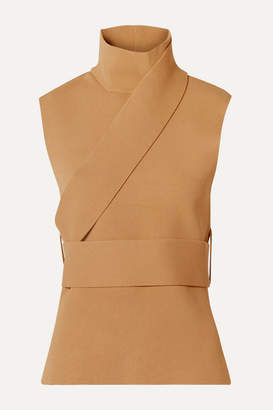 Peter Do - Belted Stretch-knit Turtleneck Top - Sand