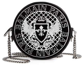 Balmain Disco Glow-in-the-Dark Velvet Crossbody Bag