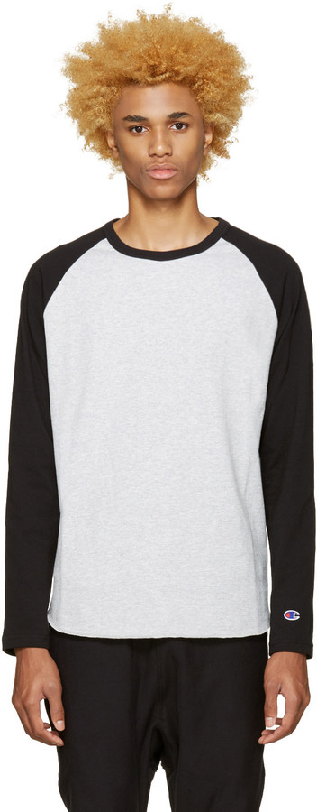 Champion Reverse Weave Grey Heavy Jersey Raglan T-Shirt