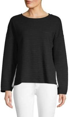 French Connection Ribbed Roundneck Top