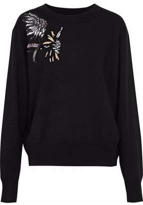 Markus Lupfer Alice Embellished Merino Wool Sweater