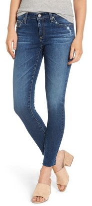 Women's Ag The Legging Raw Hem Ankle Skinny Jeans $225 thestylecure.com