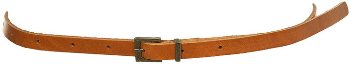 Plain Leather Skinny Belt