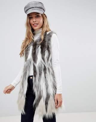 Urban Code Urbancode vest in stag faux fur