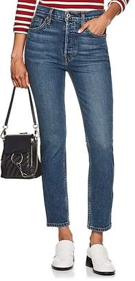 RE/DONE Women's Stretch High Rise Ankle Crop Jeans