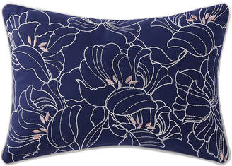Oceanfront Resort Indienne Paisley Embroidered Floral Decorative Pillow