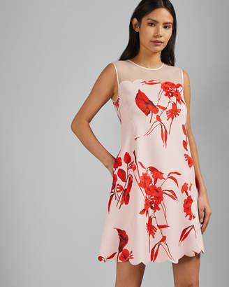 49eb1d0a8a73 Ted Baker JAAZMIN Fantasia scallop mini dress