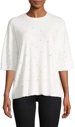 Renvy Embellished Short-Sleeve Top