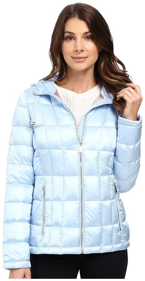 Calvin Klein - Short Hooded Lightweight Packable Down Women's Coat