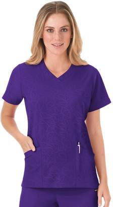 Jockey Plus Size Scrubs Modern Solid Illusions V-Neck Top