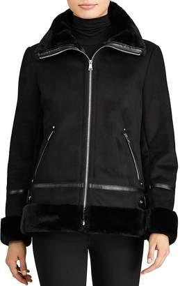 Lauren Ralph Lauren Faux Shearling Moto Jacket $350 thestylecure.com