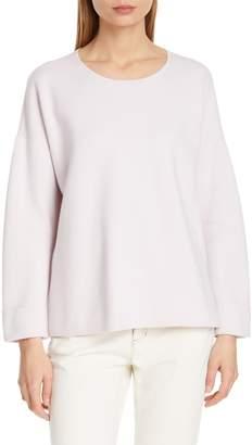 Eileen Fisher Boxy Organic Cotton Blend Sweater