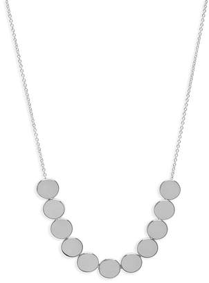 Gorjana Jagger Silver Plated Small Disc Necklace