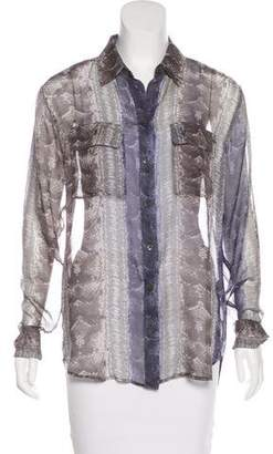 070eff7ad0180 Pre-Owned at TheRealReal · Equipment Silk Snakeskin Print Blouse