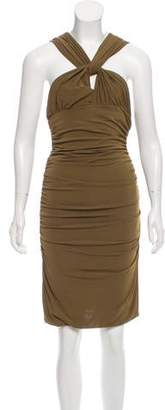 Philosophy di Alberta Ferretti Ruched Sleeveless Dress