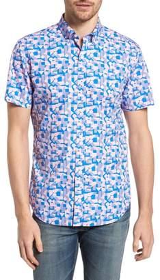 Bonobos Slim Fit Print Short Sleeve Sport Shirt
