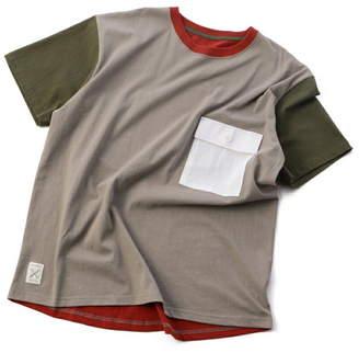 Men's Bigi (メンズ ビギ) - ADITIONAL フラップ付きポケットTシャツ/クレイジーカラー メンズ ビギ カットソー