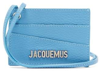 Jacquemus Leather Necklace Cardholder - Mens - Blue
