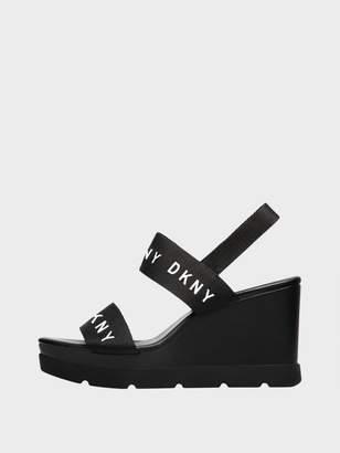 DKNY Cati Logo Wedge Sandal