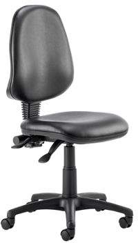 Eclipse Ii Eclipse II Lever Task Operator Chair Vinyl Black Without Arms